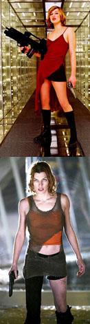 Milla Jovovich as Alice in the Resident Evil Series